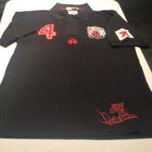 NWOT Men's black polo short sleeve top